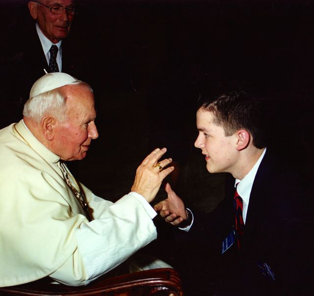 PCSGV singer Sean Flahive meets Pope John Paul II - 12/31/99